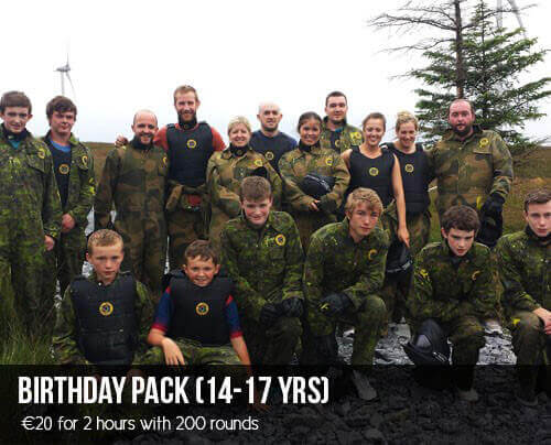 Paintball Galway - Birthday Pack (14-17 years old)